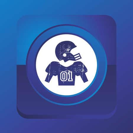 american football button Vector