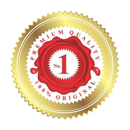 no 1: no 1 100% original premium quality red stamp wax label