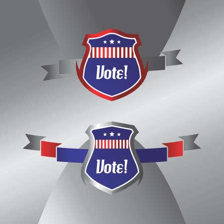 vote election label art