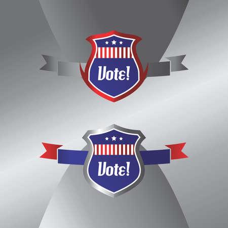 vote label: vote label shield art