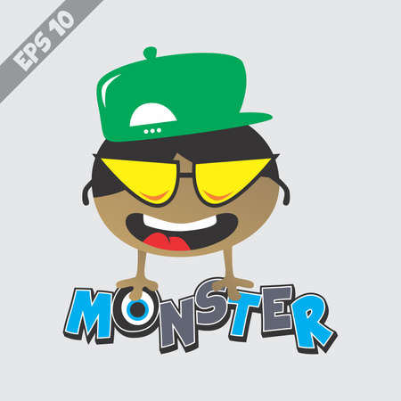 funky little monster Vector