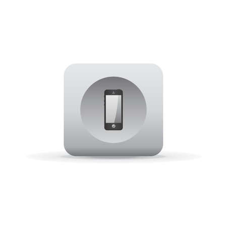 rec: white shadow button icon Illustration
