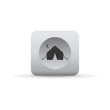 eject: white shadow button icon Illustration