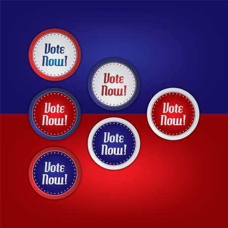 vote label: vote election label art