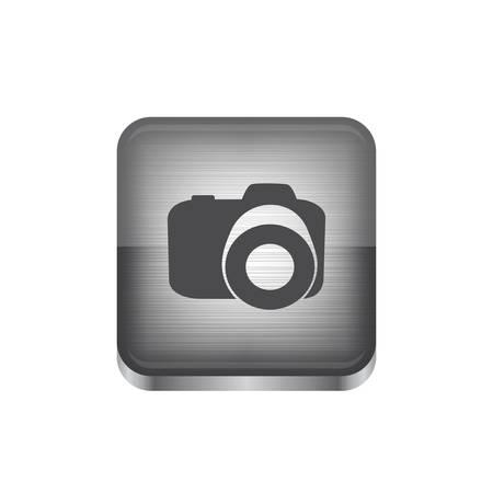 white shadow button icon Illustration