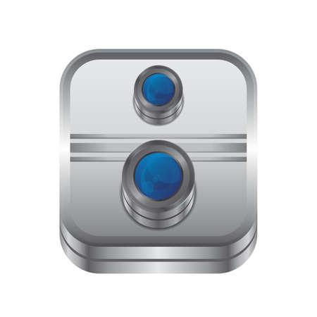 interface icon: media interface icon button Illustration