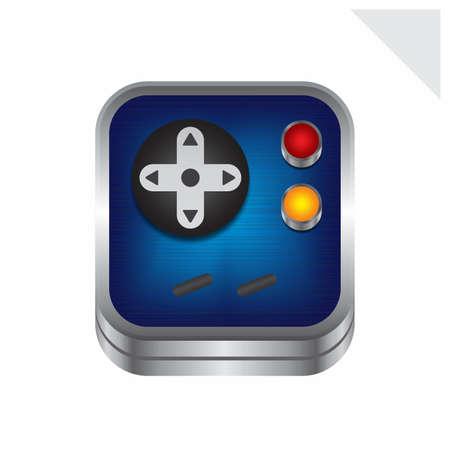 game console button Stock Vector - 25207763