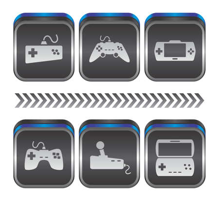 game console button art