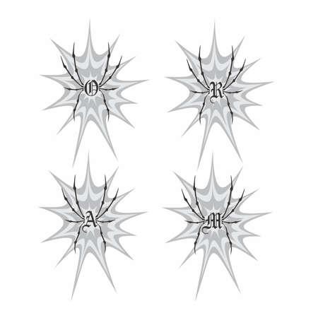 spider web splash art Vector