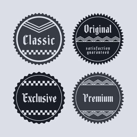 sticker label Vector