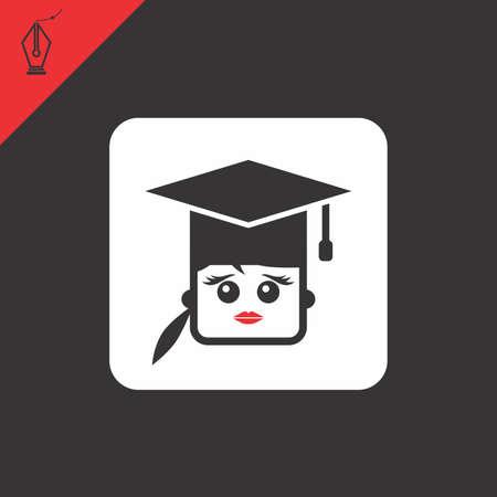 smart woman: avatar portrait picture icon