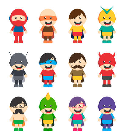 super hero cartoon character Vector