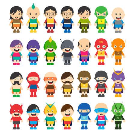 スーパー ヒーローの漫画のキャラクター