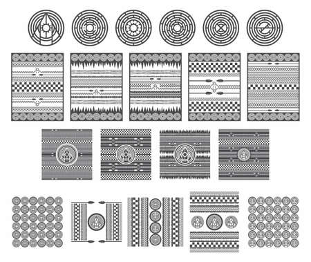 human arms: native america art pattern
