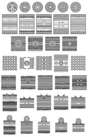 native american tribe pattern collection Vector