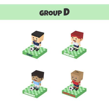 world soccer group cartoon character
