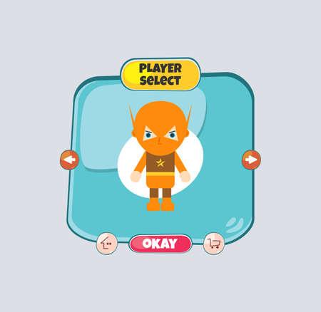 assets: hero character game assets Illustration