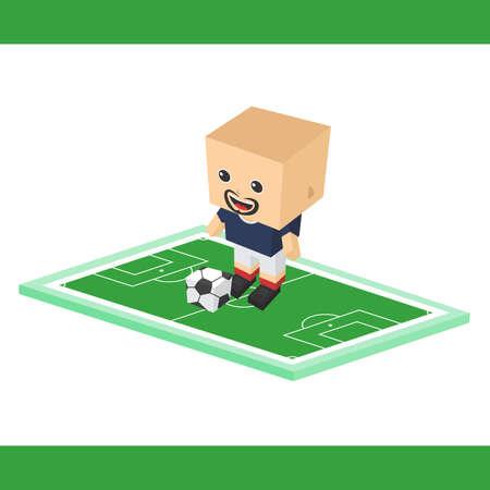 striker: soccer striker boy cartoon character