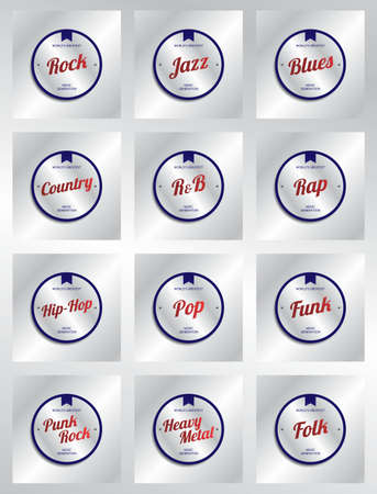 genre: music genre label set