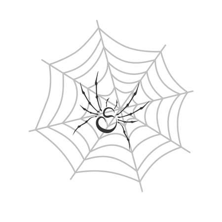 spidery: color spiderweb theme vector art graphic illustration