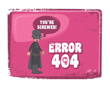 style advice: editable error page template vector graphic art design illustration