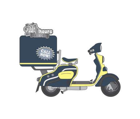 editable motorcycle theme vector graphic art design illustration Vector