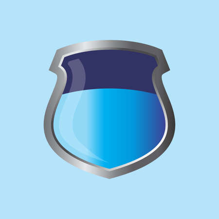 insignia shield theme vector art graphic illustration