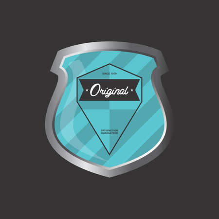 art product: insignia shield product label vector graphic art illustration
