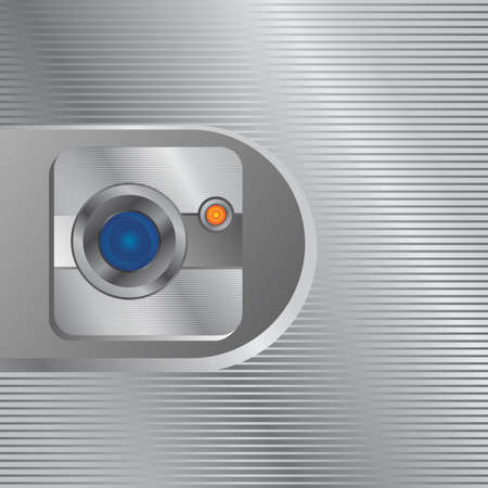 plate camera: camera photo and video interface vector graphic art illustration