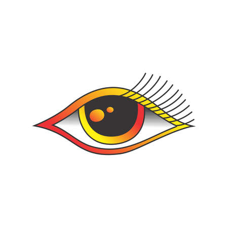 one eye: one eye of god graphic art vector illustration Illustration