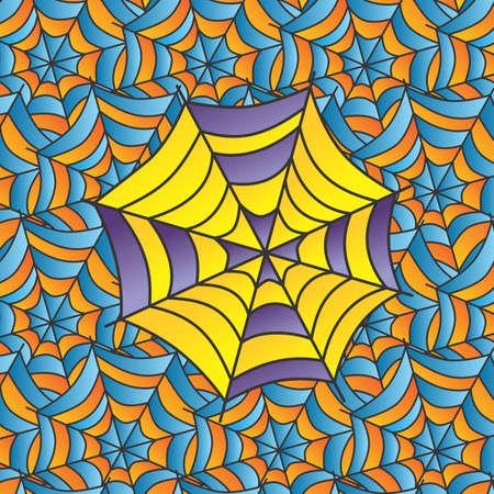 arachnophobia: color spiderweb Illustration