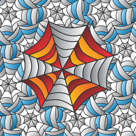 spidery: color spiderweb Illustration