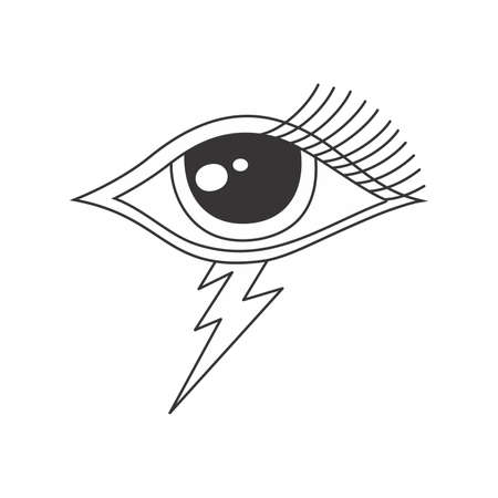 one eye: one eye of god Illustration