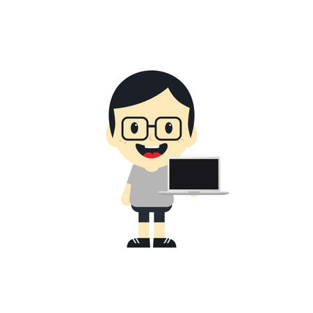 cartoon character theme graphic art vector illustration 向量圖像