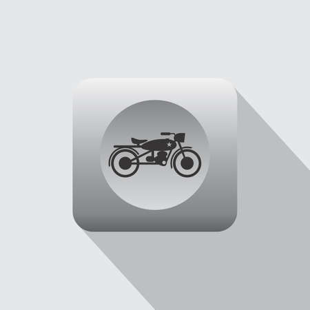 throttle: chopper motorcycle icon theme vector art illustration