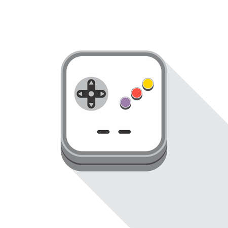 handheld device: Video game icon theme vector art illustration