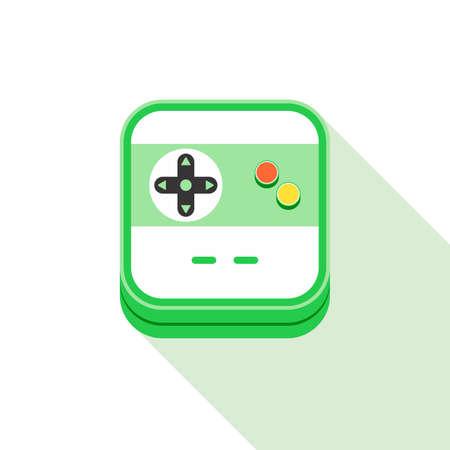 handheld device: Video game icon theme vector art illustration
