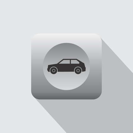 minibus: Car and vehicle icon theme vector art illustration