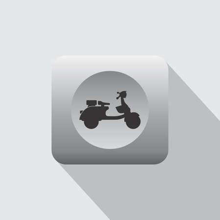 throttle: scooter motorcycle icon theme vector art illustration