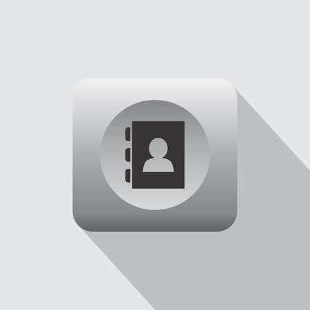 contact book: contacto de la libreta de gr�ficos de iconos ilustraci�n tema Vectores