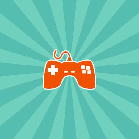 ビデオ ゲーム コンソール テーマ ベクトル アート グラフィック イラスト