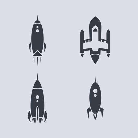 スペースシャトル ロケット テーマ ベクトル アート イラスト