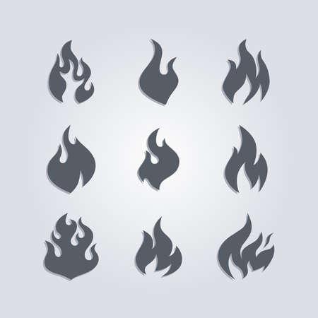 hot fire theme vector graphic art illustration Stock Illustratie