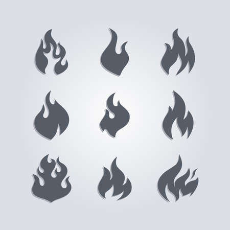 hot fire theme vector graphic art illustration Ilustração