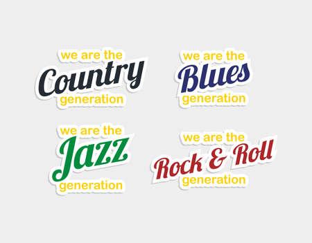 genre: music genre badge sticker