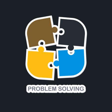 Problème médias résolution bouton icône vecteur art graphique illustration Banque d'images - 35682943