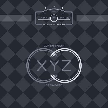 modern insignia vintage label theme vector art illustration Vector
