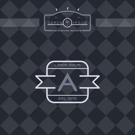 ny: modern insignia vintage label theme vector art illustration