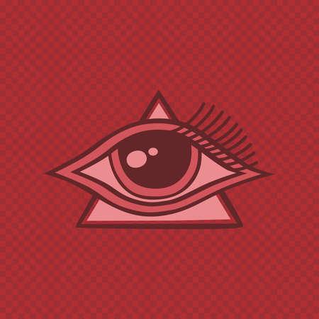 ojo de horus: todo el ojo que ve de Horus