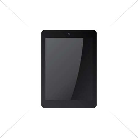black tablet mock up vector graphic art illustration Vector